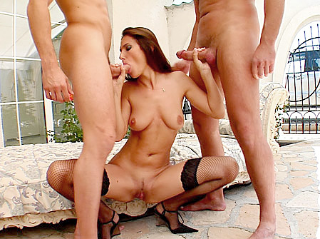 MILF Maggie's Spunky Three-Way Fuck